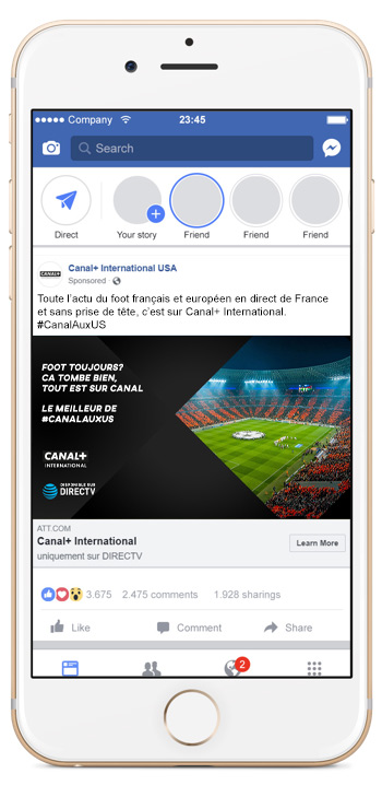 Canal+ International - Facebook Ads Campaign by Royal Cheese Digital